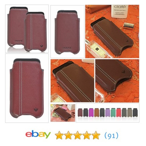 For Apple iPhone SE 5s Case Burgundy Real Leather #NueVue Screen Cleaning Pouch | eBay  #etsy #PromoteEbay #PictureVideo @SharePicVideo