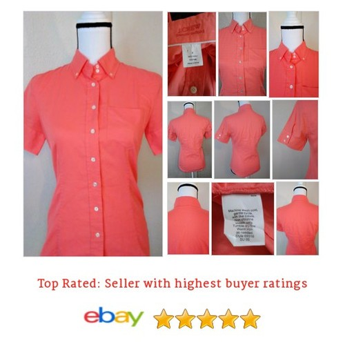 J. Crew Womens Shirt French Oxford Size 2 Short sleeve Orange Button Down | eBay #Top #JCrew #Blouse #etsy #PromoteEbay #PictureVideo @SharePicVideo