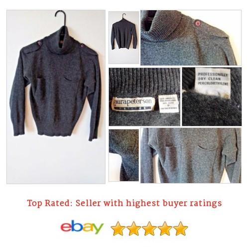 Laura Peterson Petites 100% Wool Gray #Sweater Turtleneck Small | eBay #Mock #Turtleneck #etsy #PromoteEbay #PictureVideo @SharePicVideo