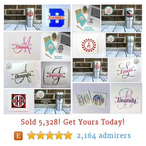Monogram Decals Etsy shop #monogramdecal #etsy @dashofflair  #etsy #PromoteEtsy #PictureVideo @SharePicVideo