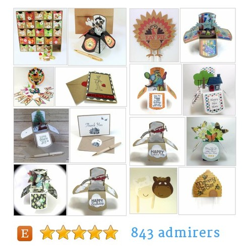 Handmade Greeting Cards - Pop Up Cards - Custom Work by QueenBeeInspirations Etsy shop #etsy #PromoteEtsy #PictureVideo @SharePicVideo
