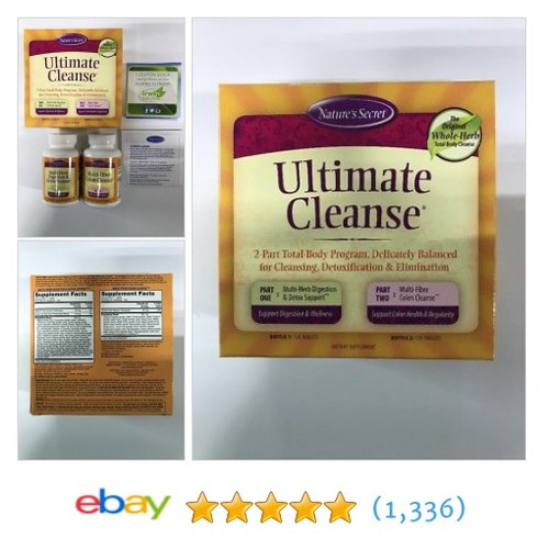 Nature's Secret Ultimate Cleanse 2-Part Program - Two 120 Count Bottles #etsy #PromoteEbay #PictureVideo @SharePicVideo