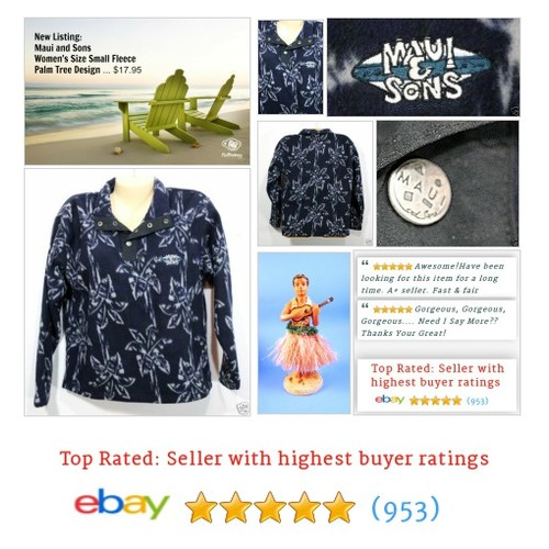 Womens Fleece Size Small S Navy Blue Palm Trees by Maui and Sons | eBay #Henley #Sweater #MauiandSon #etsy #PromoteEbay #PictureVideo @SharePicVideo
