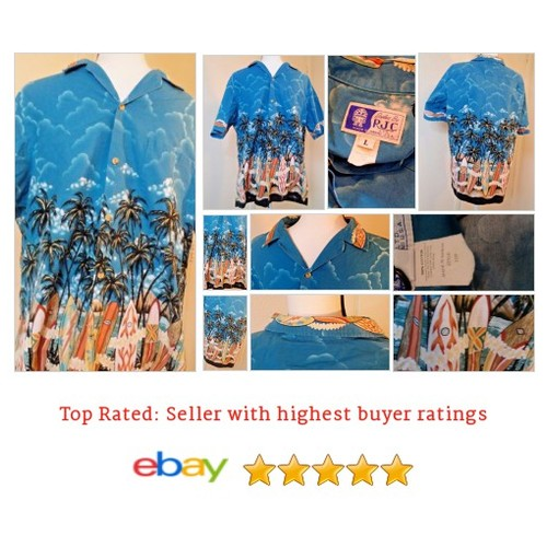 #RJC #HawaiianShirt Blue #Surf Boards #palmtrees  #beach #ocean #RJCLimited #etsy #PromoteEbay #PictureVideo @SharePicVideo