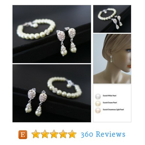 Bridal Pearl Bracelet Drop Earrings Wedding #etsy @sukranjewelry  #etsy #PromoteEtsy #PictureVideo @SharePicVideo