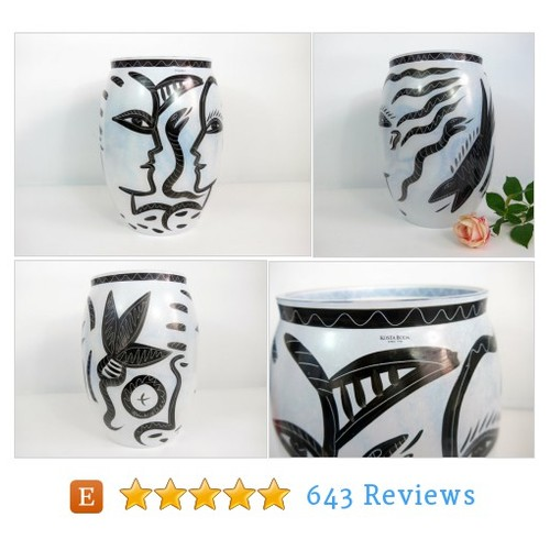 #Vintage #HomeDecor Kosta Boda Caramba #Vase Ulrica Hydman-Vallien Sweden Primal Abstract Signed Art Vase #etsy #PromoteEtsy #PictureVideo @SharePicVideo