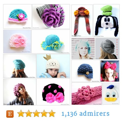 Hat, Headband Patterns #etsy shop #hat #headbandpattern @beautycrochet  #etsy #PromoteEtsy #PictureVideo @SharePicVideo