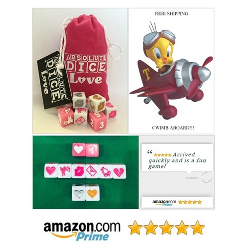 ABSOLUTE DICE Love: Toys & Games fun!!!!! FUN GAME FOR ROMANTIC FUN!!! #socialselling #PromoteStore #PictureVideo @SharePicVideo