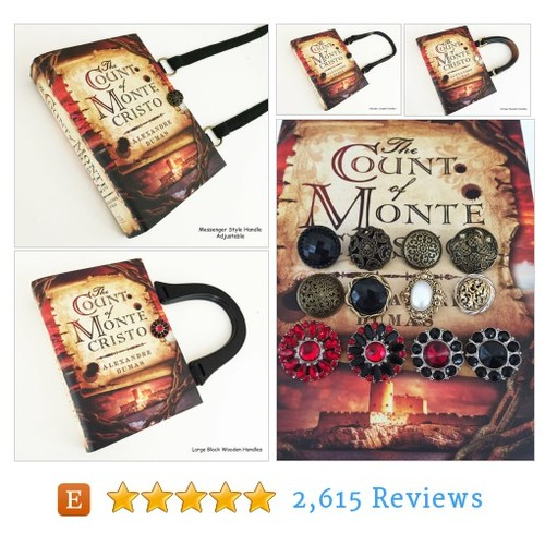 Count of Monte Cristo Recycled Book Purse - #etsy @novelcreations  #etsy #PromoteEtsy #PictureVideo @SharePicVideo