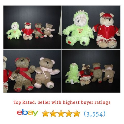 Starbucks Bearista Bear Collection Lot Prince Frog Student Plush 2004 #ebay @somberstitches4  #etsy #PromoteEbay #PictureVideo @SharePicVideo