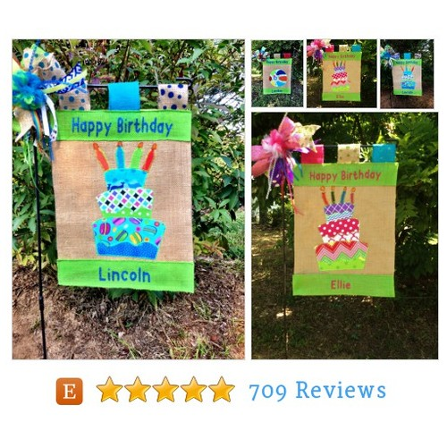 Birthday Garden Flag* Happy Birthday Flag* #etsy @tallahatchie101  #etsy #PromoteEtsy #PictureVideo @SharePicVideo