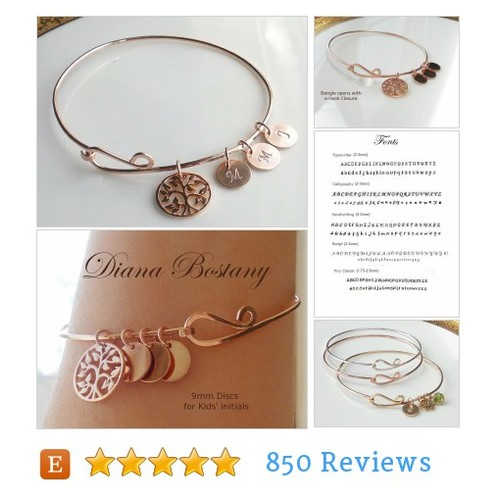 Rose Gold Family Tree Bracelet, Mothers #etsy @dianabostany  #etsy #PromoteEtsy #PictureVideo @SharePicVideo