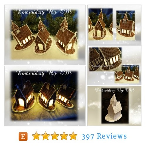 Shining Christmas Church from #etsy @tmembroidery  #etsy #PromoteEtsy #PictureVideo @SharePicVideo