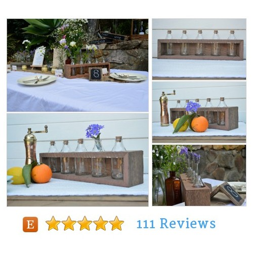 Rustic #wedding table centerpiece. Vintage #etsy @whothedickens1  #etsy #PromoteEtsy #PictureVideo @SharePicVideo