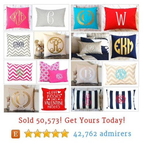 Monogrammed Pillows Etsy shop #monogrammedpillow #etsy @cotwentysix  #etsy #PromoteEtsy #PictureVideo @SharePicVideo