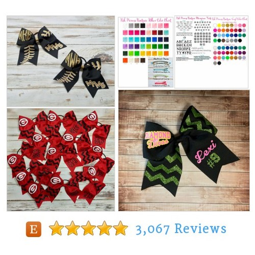 Hair Bows, Cheer Bows, Softball Bows, #etsy @poshboutiquega  #etsy #PromoteEtsy #PictureVideo @SharePicVideo