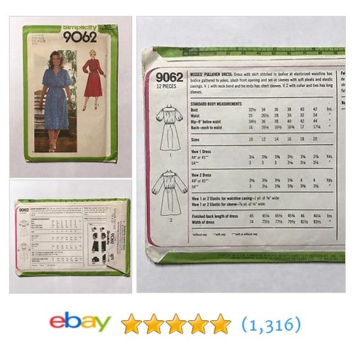 Simplicity Pattern 9062 Pullover Dress Elastic Waist Sleeve Size 18 & 20 #etsy #PromoteEbay #PictureVideo @SharePicVideo