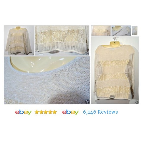 Ivory Lace #Top Sheer CATO Woman Size 22/24W Long Sleeves Cover NWOT Beach #Blouse #KnitTop #etsy #PromoteEbay #PictureVideo @SharePicVideo