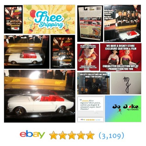 GOLDFINGER-JAMES BOND-'64 MUSTANG-JOHNNY LIGHTNING-1995 | eBay #JohnnyLightning #etsy #PromoteEbay #PictureVideo @SharePicVideo