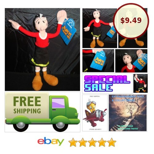POPEYE-OLIVE OYL-9 INCH-POSEABLE-APPLAUSE-RED TOP-BLACK DRESS-BOOTS-NEW WITH TAG | eBay #APPLAUSE #etsy #PromoteEbay #PictureVideo @SharePicVideo