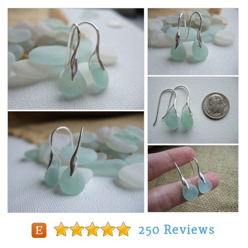 Sterling silver sea glass earrings, #etsy @tiliabythesea  #etsy #PromoteEtsy #PictureVideo @SharePicVideo