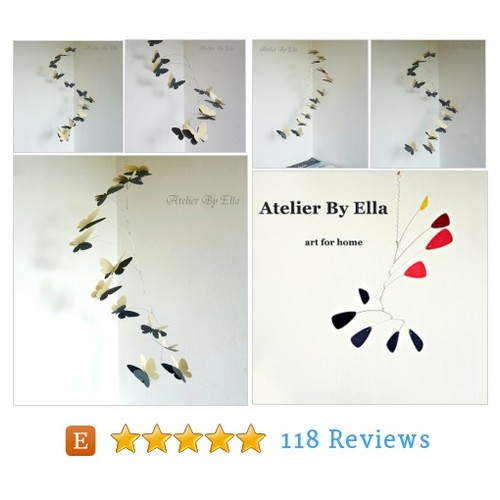Butterfly mobile, Kinetic Nursery Decor, #etsy @byeleonora  #etsy #PromoteEtsy #PictureVideo @SharePicVideo