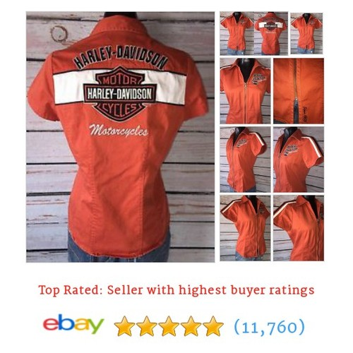 SMALL - HARLEY DAVIDSON Embroidered Back Sunburnt Orange Woman's #ebay @sunburstnation https://www.SharePicVideo.com/?ref=PostPicVideoToTwitter-sunburstnation #etsy #PromoteEbay #PictureVideo @SharePicVideo