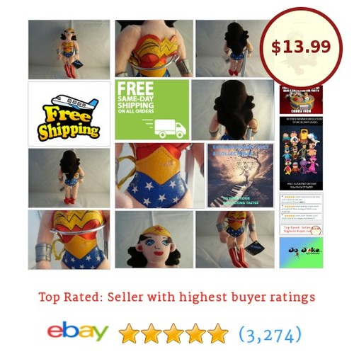 WARNER BROS STUDIO STORES- WONDER WOMAN BEAN PLUSH-OUTFIT-NEW/TAGS-1999-A FIND! | eBay #WARNERBROSSTUDIOSTORE #etsy #PromoteEbay #PictureVideo @SharePicVideo
