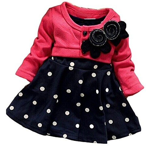 OURS# Baby #Girls#Princess One Piece Flower Dot Dress #socialselling #PromoteStore #PictureVideo @SharePicVideo