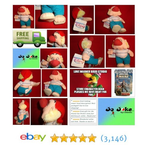 DISNEY STORE EXCLUSIVE--SMEE BEAN PLUSH-8 IN-SAILOR FROM PETER PAN-NEW/TAGS-RARE | eBay #DisneySTOREEXCLUSIVE #etsy #PromoteEbay #PictureVideo @SharePicVideo