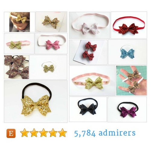 GLITTER BOW HEADBANDS by @herjoyfulstudio  #Etsy #GLITTERBOWHEADBAND  #etsy #PromoteEtsy #PictureVideo @SharePicVideo
