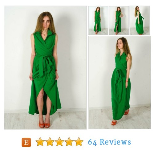 Maxi Casual dress emerald cocktail dress #etsy @talitacrochet https://www.SharePicVideo.com/?ref=PostPicVideoToTwitter-talitacrochet #etsy #PromoteEtsy #PictureVideo @SharePicVideo