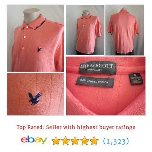 LYLE & SCOTT Men's Tangerine Black 100% Combed Cotton Polo #ebay @dmlboutique  #etsy #PromoteEbay #PictureVideo @SharePicVideo