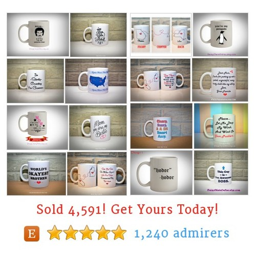 Printed Coffee Mugs Etsy shop #etsy @daisychainetsy  #etsy #PromoteEtsy #PictureVideo @SharePicVideo