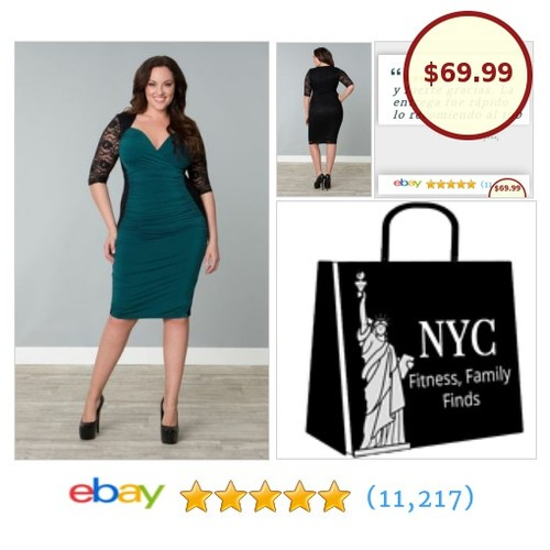 💕 Here is a feminine, super sexy bodycon green Valentina Illusion style wiggle cocktail party dress from Kiyonna! #GreenPartyDress #PlusSize  #etsy #PromoteEbay #PictureVideo @SharePicVideo