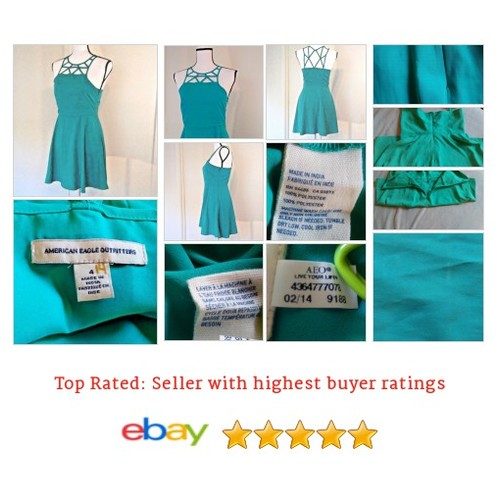 #AmericanEagleOutfitters #Summer #Dress Size 4 #Teal  #Strappy | @eBay #etsy #PromoteEbay #PictureVideo @SharePicVideo