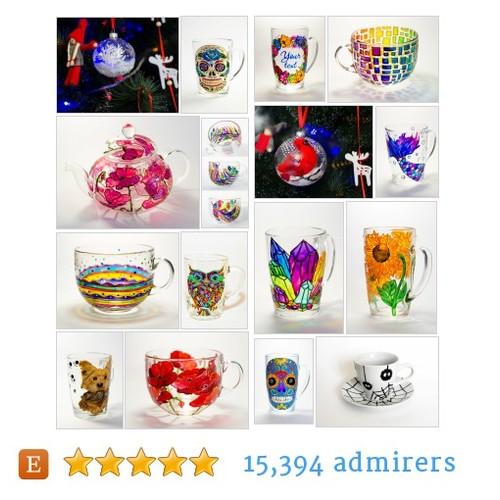 Mugs, Wine glasses, Vases, Gifts by Vitraaze Etsy shop #etsy #PromoteEtsy #PictureVideo @SharePicVideo