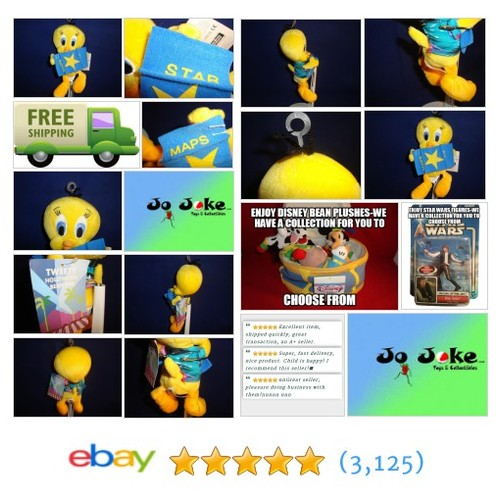 WARNER BROS STUDIO STORE-HOLLYWOOD TWEETY BEAN PLUSH-2000-MAP--RETIRED-TAGS-RARE | eBay #WARNERBROSSTUDIOSTORE #etsy #PromoteEbay #PictureVideo @SharePicVideo