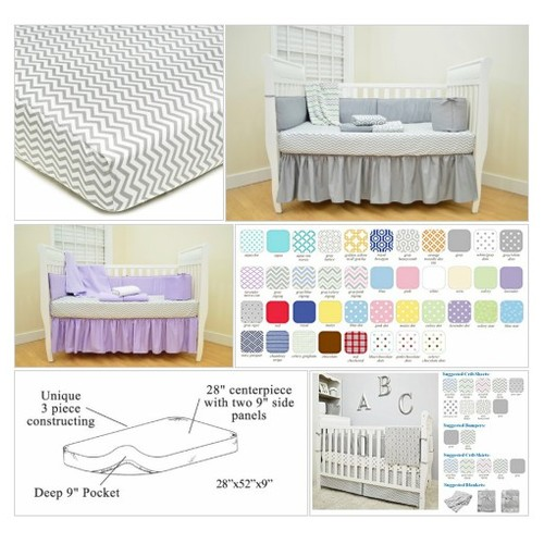 #American# Baby Company Percale #Fitted# Crib# Sheet, Zigzag Grey #socialselling #PromoteStore #PictureVideo @SharePicVideo