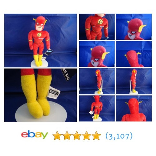 WARNER BROS STUDIO STORE-THE FLASH-11 INCH-BEAN PLUSH-D.C. COMICS-NEW/TAGS-SPIFY | eBay #WARNERBROSSTUDIOSTORE #etsy #PromoteEbay #PictureVideo @SharePicVideo