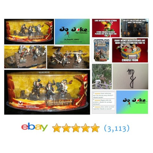 PIRATES O C-AT THE WORLDS END-7 FIGURES ON SHIPDECK-DAVY,WILL,BARBOSA,JACK +3MOR | eBay #Disney #etsy #PromoteEbay #PictureVideo @SharePicVideo