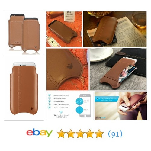 For Apple iPhone SE Case 5s Case Tan Leather #NueVue Screen Cleaning Wallet Pouch | eBay  #etsy #PromoteEbay #PictureVideo @SharePicVideo
