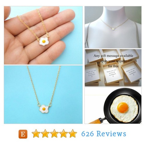 Yummy, Fried egg, Sunny side up, Gold, #etsy @giftjewelryshop  #etsy #PromoteEtsy #PictureVideo @SharePicVideo