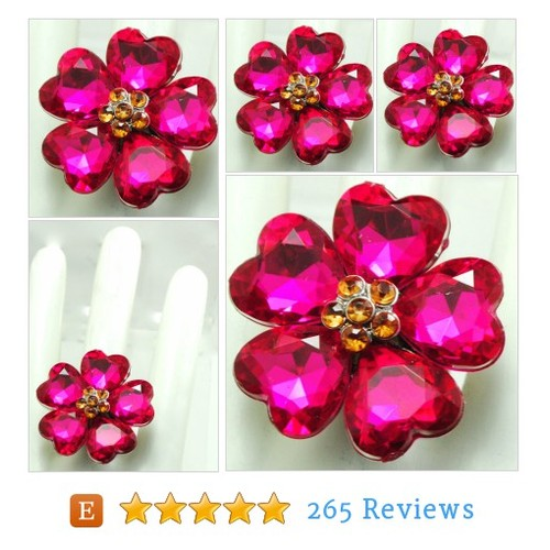 Magenta Floral Cocktail Ring/Statement #etsy @jrcookie  #etsy #PromoteEtsy #PictureVideo @SharePicVideo