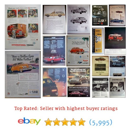 Car ads, Trucks Great deals from ADMAN VINTAGE ADS #ebay @admanvintageads  #ebay #PromoteEbay #PictureVideo @SharePicVideo