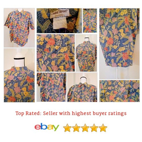 Cooke Street Honolulu Floral Rare #Hawaiian Shirt Size XL Shirt Mens Spring Fun | eBay #CookeStreet #CasualShirt #etsy #PromoteEbay #PictureVideo @SharePicVideo
