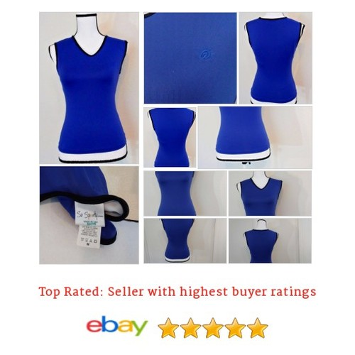 So Sporty Women's #Top Size M Tank Built-in Bra Tennis Running Yoga Blue | eBay #Shirt #SoSporty #etsy #PromoteEbay #PictureVideo @SharePicVideo