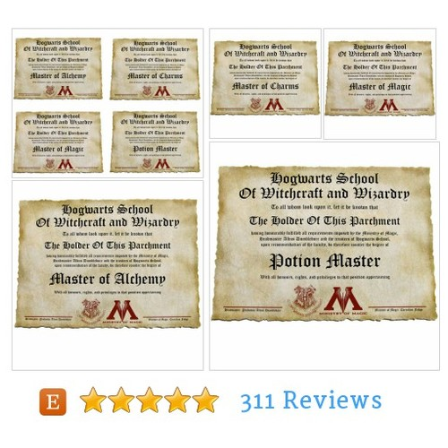 Custom personalized Hogwarts Diploma Canvas #etsy @vikitogifts  #etsy #PromoteEtsy #PictureVideo @SharePicVideo