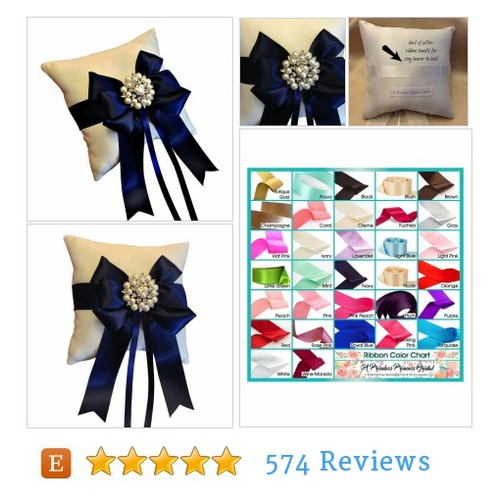 Navy Blue Ring Bearer Pillow - Ring Pillow #etsy @aprincessbridal  #etsy #PromoteEtsy #PictureVideo @SharePicVideo