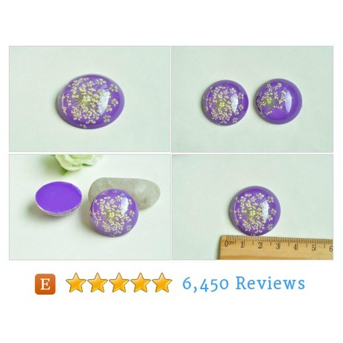 4pcs Dried Flower Resin Cabochons Purple #etsy @beadsources  #etsy #PromoteEtsy #PictureVideo @SharePicVideo